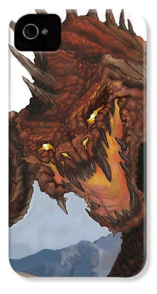 Red Dragon IPhone 4 / 4s Case by Matt Kedzierski