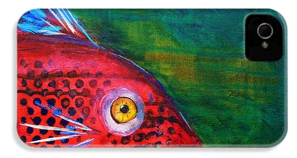 Red Fish IPhone 4 Case by Nancy Merkle
