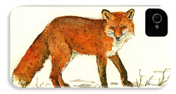 Red Fox In The Snow IPhone 4 / 4s Case by Juan  Bosco