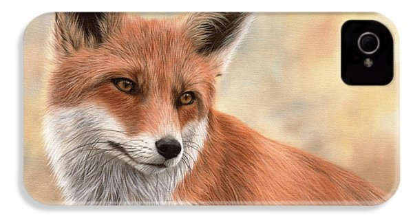Red Fox Painting IPhone 4 Case