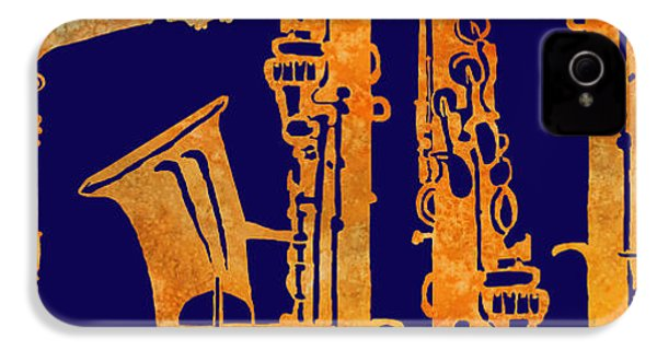Red Hot Sax Keys IPhone 4 / 4s Case by Jenny Armitage