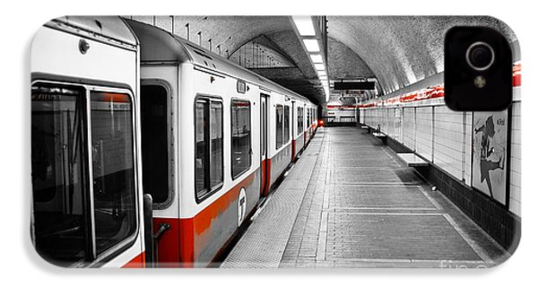 Red Line IPhone 4 Case by Charles Dobbs