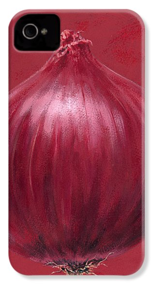 Red Onion IPhone 4 Case by Brian James