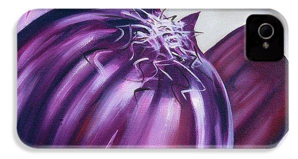Red Onion IPhone 4 Case by Ilse Kleyn