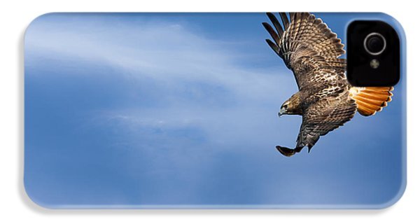Red Tailed Hawk Soaring IPhone 4 Case by Bill Wakeley