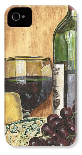 Red Wine And Cheese IPhone 4 Case