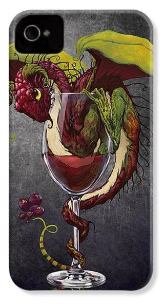 Red Wine Dragon IPhone 4 Case by Stanley Morrison