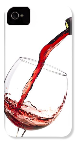 Red Wine Pouring Into Wineglass Splash IPhone 4 Case by Dustin K Ryan