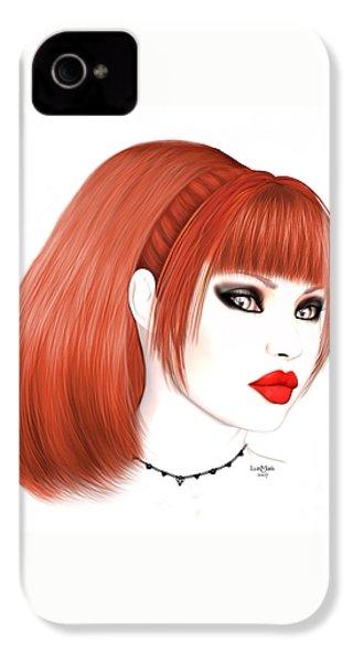 Redhead Cassia IPhone 4 Case by Renate Janssen