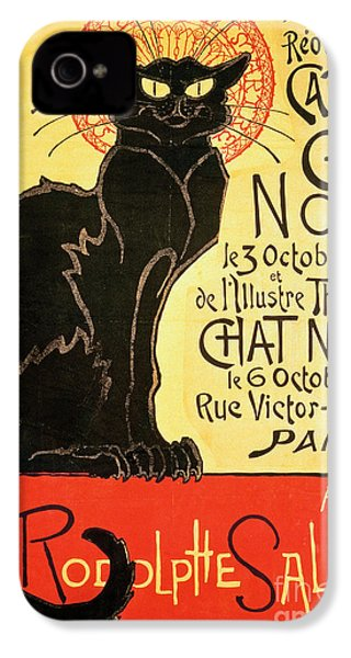 Reopening Of The Chat Noir Cabaret IPhone 4 Case by Theophile Alexandre Steinlen