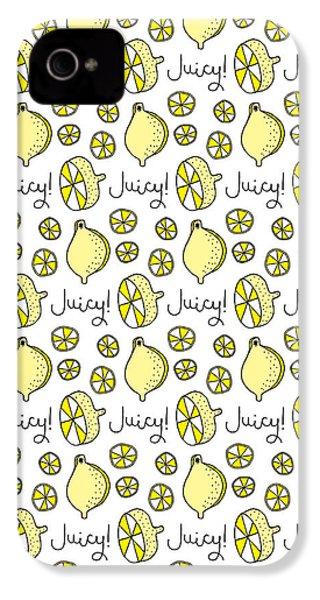 Repeat Prtin - Juicy Lemon IPhone 4 Case by Susan Claire