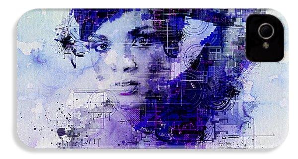Rihanna 2 IPhone 4 Case by Bekim Art