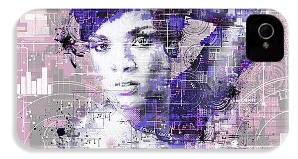 Rihanna 3 IPhone 4 Case by Bekim Art