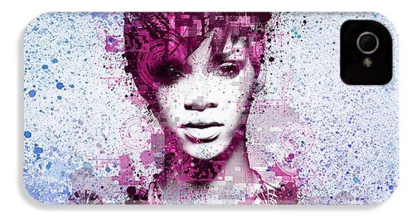 Rihanna 8 IPhone 4 Case by Bekim Art
