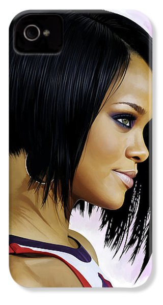 Rihanna Artwork IPhone 4 Case by Sheraz A