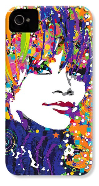 Rihanna In Blue IPhone 4 Case by Irina Effa