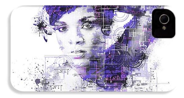 Rihanna IPhone 4 Case by Bekim Art