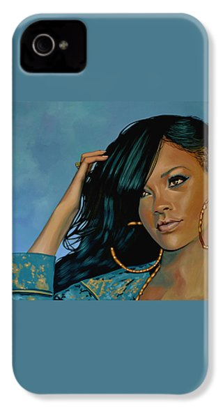 Rihanna Painting IPhone 4 Case by Paul Meijering