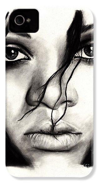 Rihanna IPhone 4 Case by Rosalinda Markle
