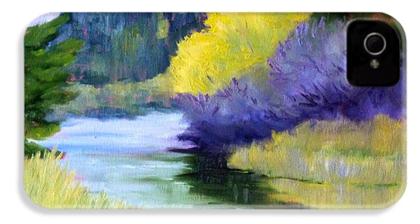 River Color IPhone 4 Case by Nancy Merkle