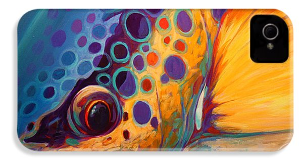 River Orchid - Brown Trout IPhone 4 / 4s Case by Savlen Art