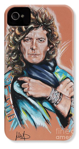 Robert Plant IPhone 4 Case by Melanie D