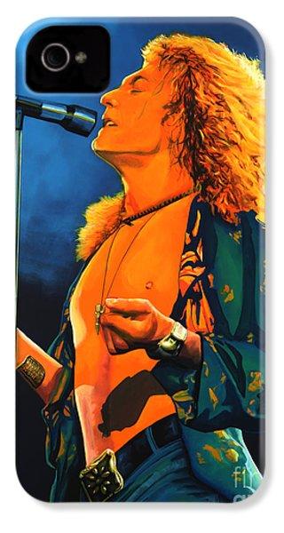 Robert Plant IPhone 4 Case by Paul Meijering