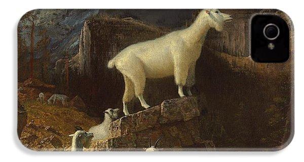 Rocky Mountain Goats IPhone 4 Case by Albert Bierstadt