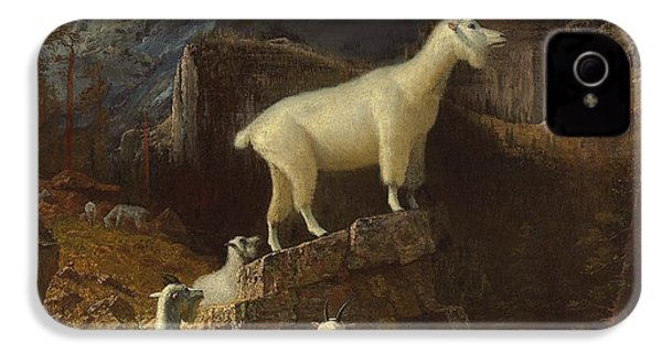 Rocky Mountain Goats IPhone 4 / 4s Case by Albert Bierstadt