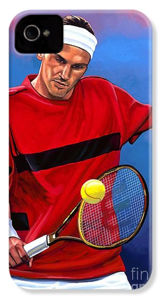 Roger Federer The Swiss Maestro IPhone 4 / 4s Case by Paul Meijering
