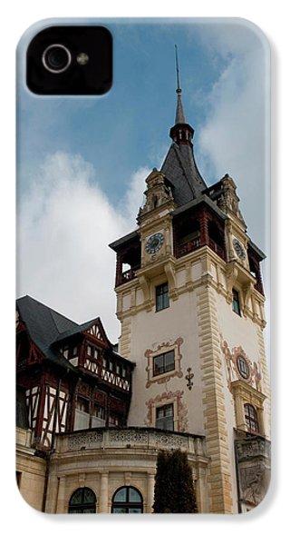 Romania Transylvania Sinaia Peles Castle IPhone 4 Case by Inger Hogstrom