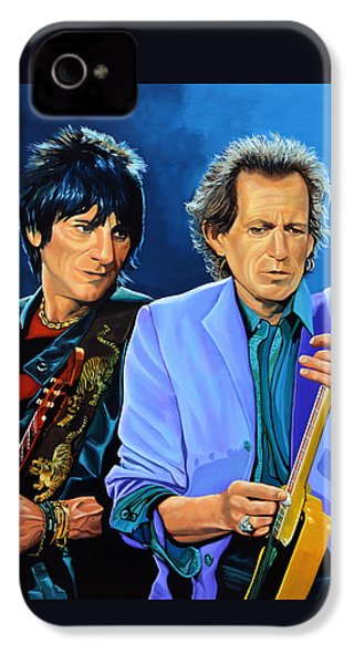 Ron Wood And Keith Richards IPhone 4 Case by Paul Meijering