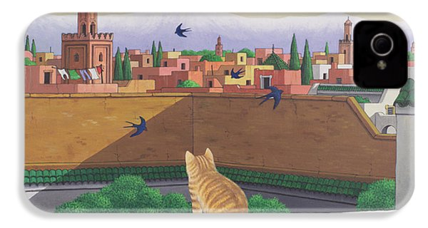 Rooftops In Marrakesh IPhone 4 Case by Larry Smart