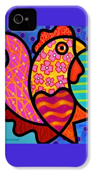 Rooster Dance IPhone 4 Case by Steven Scott