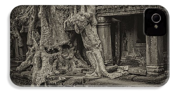 Roots In Ruins 7, Ta Prohm, 2014 IPhone 4 Case by Hitendra SINKAR