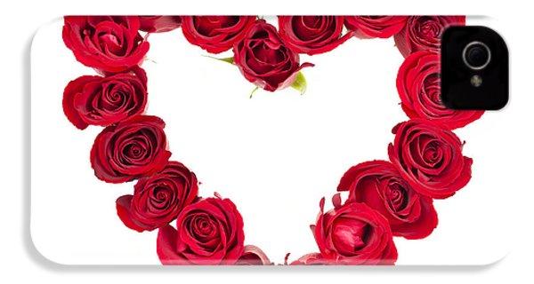 Rose Heart IPhone 4 Case by Elena Elisseeva
