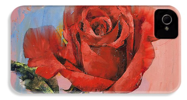 Rose Painting IPhone 4 Case by Michael Creese