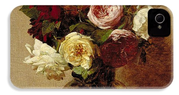 Roses IPhone 4 Case by Ignace Henri Jean Fantin-Latour