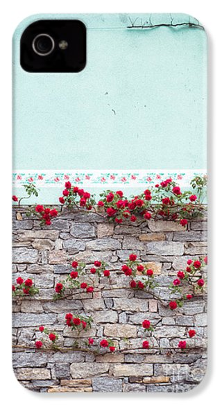 Roses On A Wall IPhone 4 Case by Silvia Ganora
