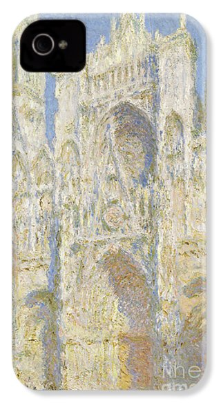 Rouen Cathedral West Facade IPhone 4 / 4s Case by Claude Monet