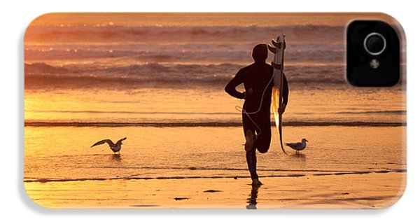 IPhone 4 Case featuring the photograph Running To Surf by Nathan Rupert