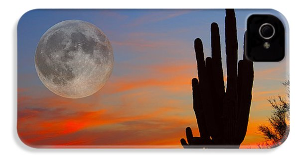 Saguaro Full Moon Sunset IPhone 4 Case by James BO  Insogna