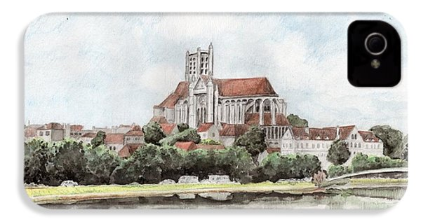 IPhone 4 Case featuring the painting Saint-etienne A Auxerre by Marc Philippe Joly