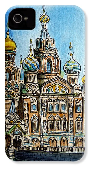 Saint Petersburg Russia The Church Of Our Savior On The Spilled Blood IPhone 4 Case