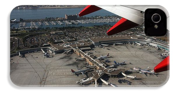 IPhone 4 Case featuring the photograph San Diego Airport Plane Wheel by Nathan Rupert