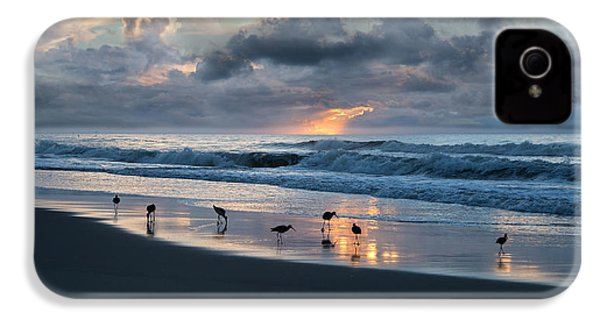 Sandpipers In Paradise IPhone 4 Case by Betsy Knapp