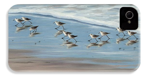 Sandpipers IPhone 4 Case by Tina Obrien