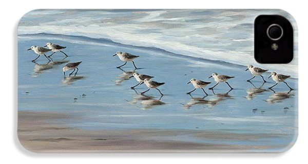 Sandpipers IPhone 4 / 4s Case by Tina Obrien