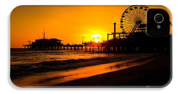 Santa Monica Pier California Sunset Photo IPhone 4 / 4s Case by Paul Velgos