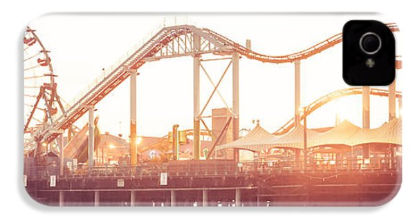 Santa Monica Pier Roller Coaster Panorama Photo IPhone 4 / 4s Case by Paul Velgos